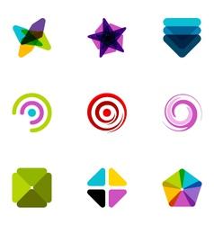logo design elements set 09 vector image