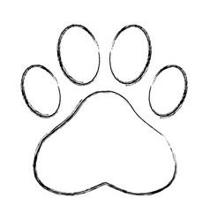paw print symbol vector image