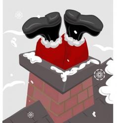 Santa chimney illustration vector image