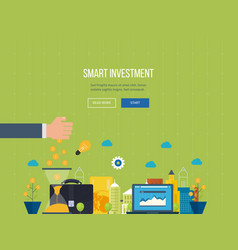 smart investment finance banking management vector image vector image