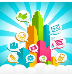 colorful media city vector image