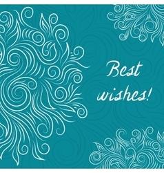 Creative Turquoise Elegant Card vector image