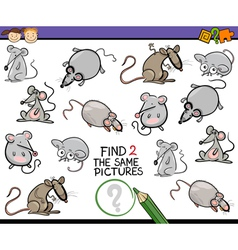 find same picture game cartoon vector image