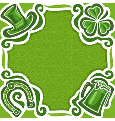 poster for st patricks day vector image