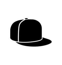 rap cap icon vector image vector image