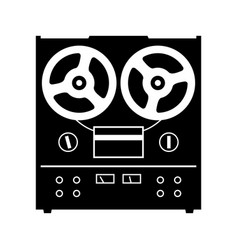 reel to reel tape deck player recorder vector image vector image
