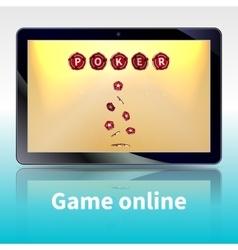 video poker online games vector image