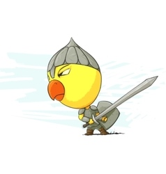 angry chicken warrior vector image