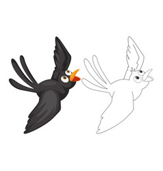 Animal doodle for crow vector