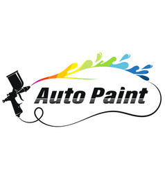 Atomizer colored car painting vector