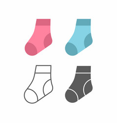 baby socks icon vector image