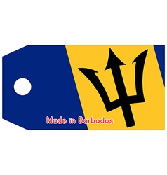 Barbados flag on price tag vector