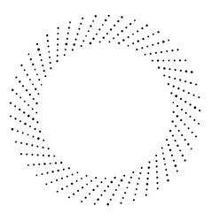 black and white dotted circular half-tone element vector image