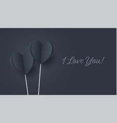 Black hearts with blue lighting paper flying vector