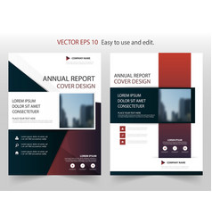blue abstract square annual report brochure vector image