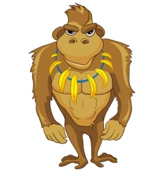 cartoon character monkey vector image