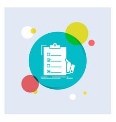 Checklist check expertise list clipboard white vector