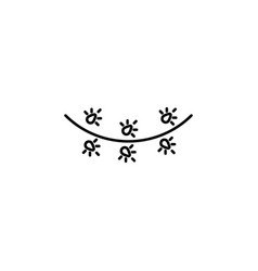 christmas garland outline icon element of new vector image