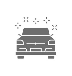 Clean polished car grey icon isolated on white vector