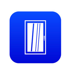 closed white window icon digital blue vector image