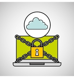 Cloud security internet technology vector