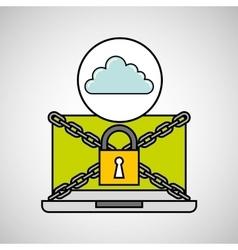 Cloud security internet technology vector