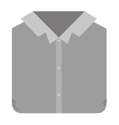 Colorful silhouette of man shirt folded vector