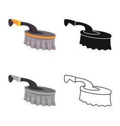 Design brush and bristle icon graphic vector