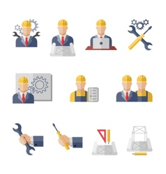 Engineer icons vector image