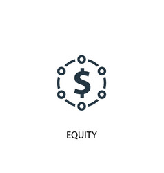 equity icon simple element equity vector image