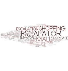 Escalation word cloud concept vector