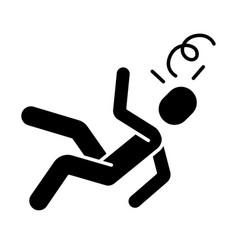 Fainting glyph icon vector