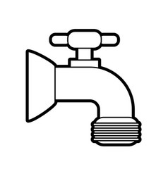 faucet icon image vector image