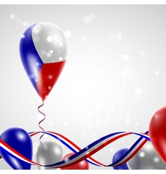 Flag of the Czech Republic on balloon vector image