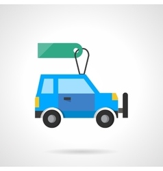 Flat design auto with tag icon vector