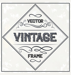 frame - vintage text decoration monogram vector image