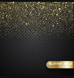 Glitter gold particles light shine effect on vector