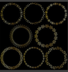 gold paisley frames vector image