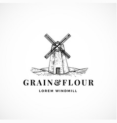 grain and flour abstract sign symbol or vector image