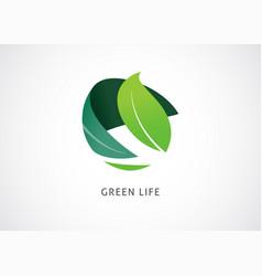 Green world logo and icon concept design vector
