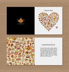 greeting cards design idea for sweets shop vector image