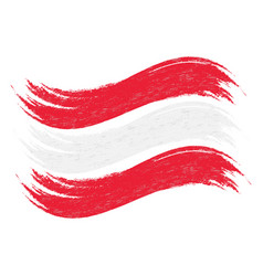 Grunge brush stroke with national flag of austria vector