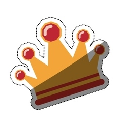 Isolated crown design vector