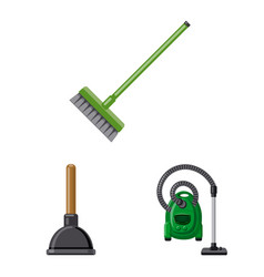 isolated object of cleaning and service sign vector image
