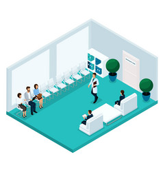 isometric cabinet hospital rear view vector image