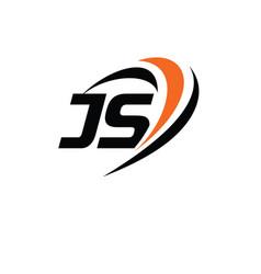 Js monogram logo vector