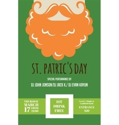 Leprechaun or Irish man with mustache and beard vector