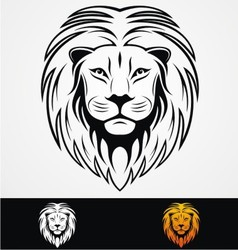 Lions Head Tribal Mascot vector