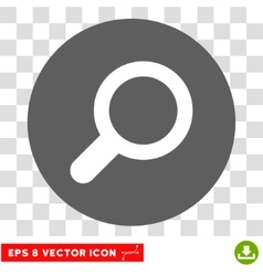 Magnifier View Tool Round Eps Icon vector image
