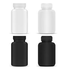 medical supplement bottle pill bottle mockup 3d vector image